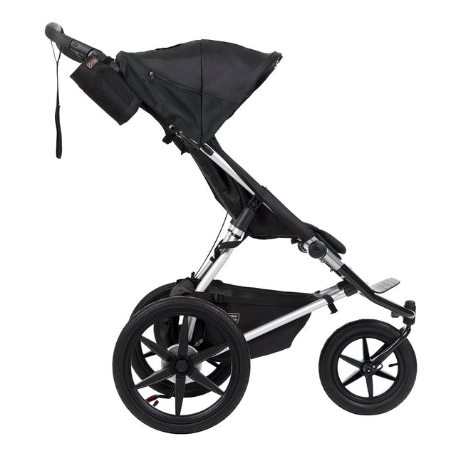 mountain buggy terrain active all terrain jogging stroller side view shown in color onyx_onyx