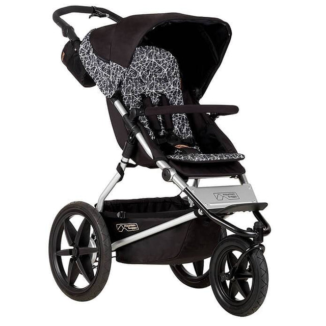 Mountain Buggy terrain stroller in black and white graphite colour_graphite