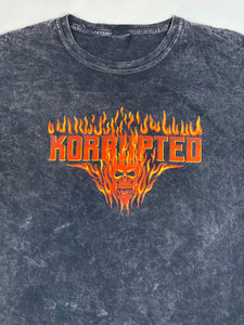 Skull Fire Mineral Washed Tee