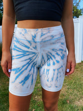 Load image into Gallery viewer, Blue Acid Bike Shorts