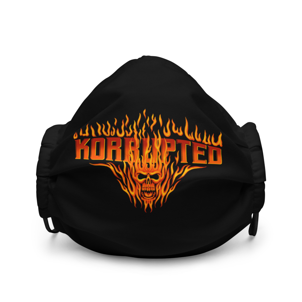 Skull Fire Face Mask