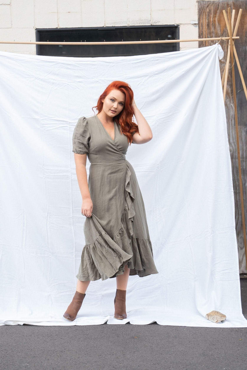 The Mya Dress ~ Olive