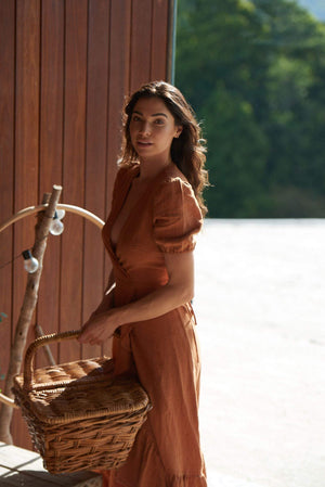 The Mya Dress ~ Terracotta - Luna + Sun the Label