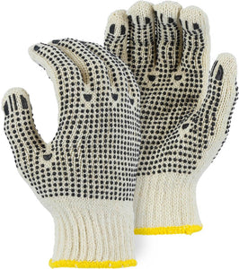 PVC Dot String Knit Gloves - 12 Pairs