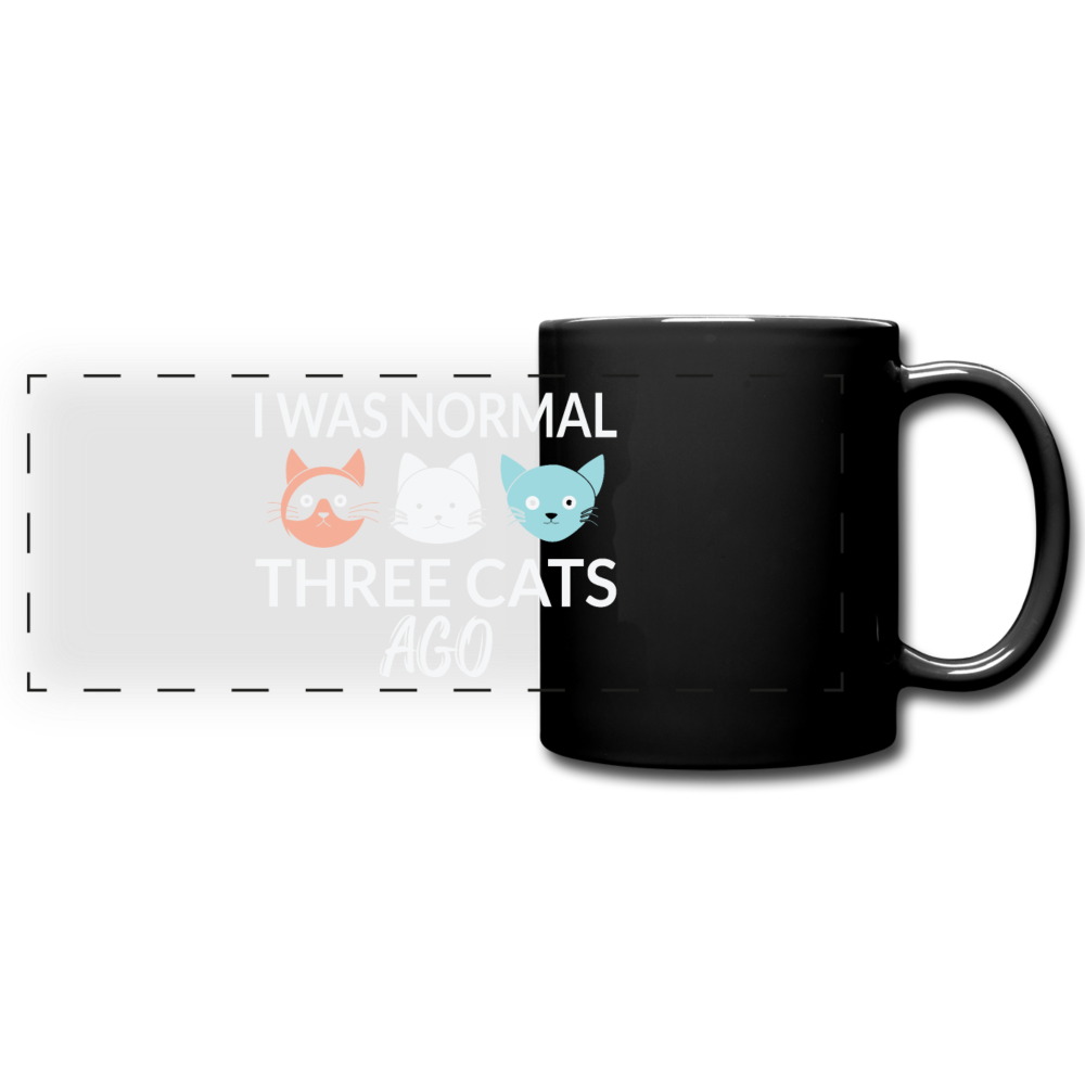"Tasse ""I was normal three cats ago"" - Schwarz"