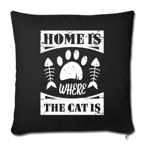 "Sofakissen ""Home is where the cat is"" - Schwarz"