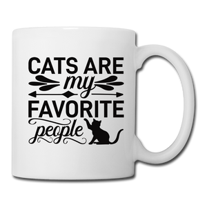 "Tasse ""Cats are my favorite people"" - Weiß"