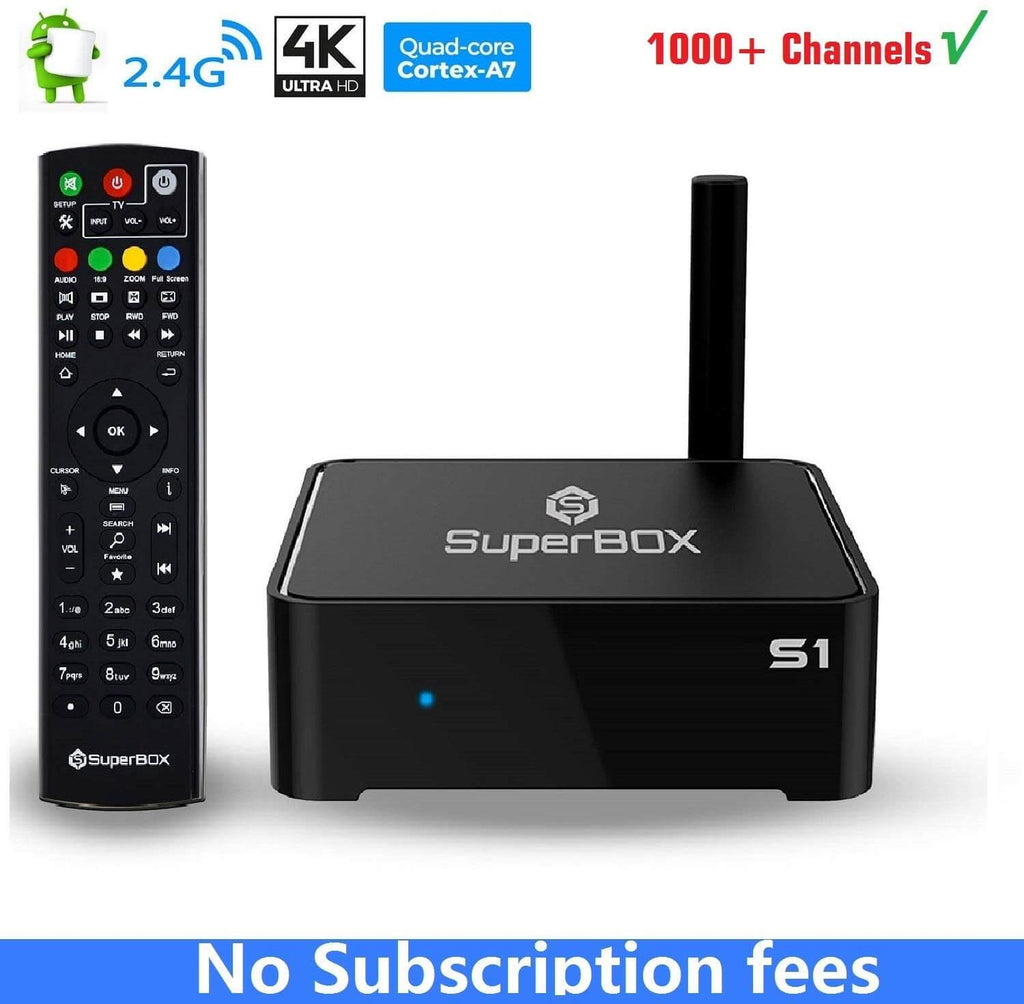 SuperBox S1- iptv box usa without monthly fees
