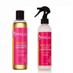 Mielle Babassu Conditioning Shampoo & Mielle White Peony Leave-In Conditioner - blackhairboutique.co.uk