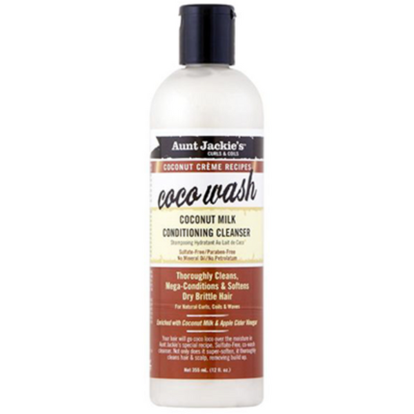 Aunt Jackie's - Coco Wash – Coconut Milk Conditioning Cleanser - blackhairboutique.co.uk