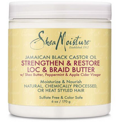 Shea Moisture Jamaican Black Castor Oil Strengthen Grow & Restore Loc & Braid Butter - blackhairboutique.co.uk
