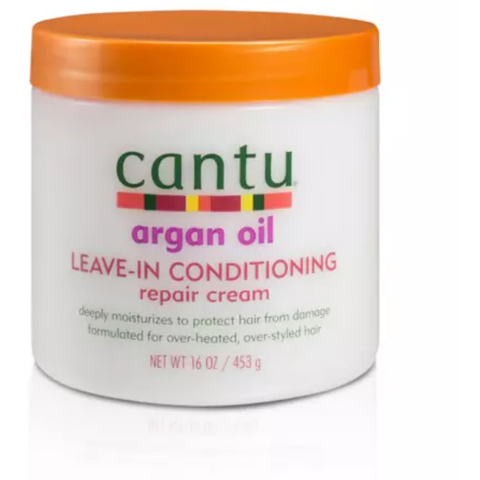 Cantu - Argan Oil Leave-In Conditioning Repair Cream - blackhairboutique.co.uk