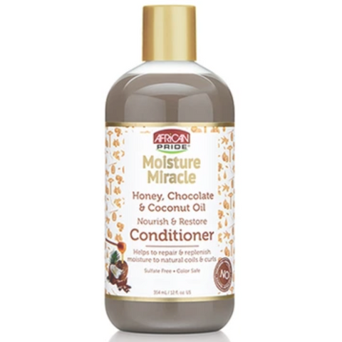 African Pride Moisture Miracle Nourish and Restore Conditioner with Honey, Chocolate & Coconut Oil - blackhairboutique.co.uk