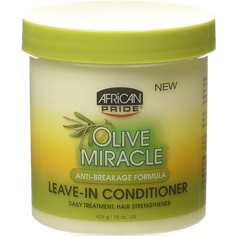 African Pride Olive Miracle Anti-Breakage Leave-In Conditioner - blackhairboutique.co.uk