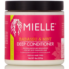 Mielle Babassu Oil & Mint Deep Conditioner - blackhairboutique.co.uk