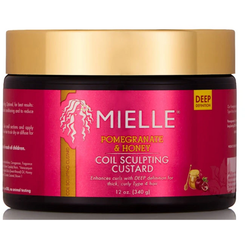 Mielle Pomegranate & Honey Coil Sculpting Custard - blackhairboutique.co.uk