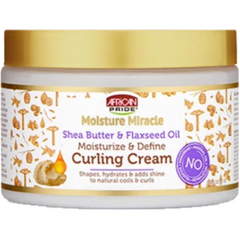 African Pride Moisture Miracle Shea Butter & Flaxseed Oil Moisturize & Define Curling Cream - blackhairboutique.co.uk