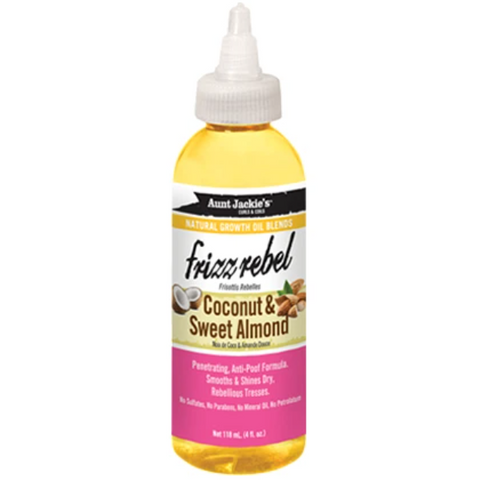 Aunt Jackie's Frizz Rebel – Coconut & Sweet Almond Oil - blackhairboutique.co.uk