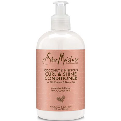 SheaMoisture's Coconut & Hibiscus Curl & Shine Conditioner - blackhairboutique.co.uk