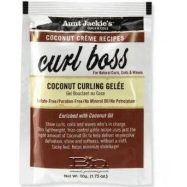 Aunt Jackie's Curl Boss – Coconut Curling Gelée - blackhairboutique.co.uk