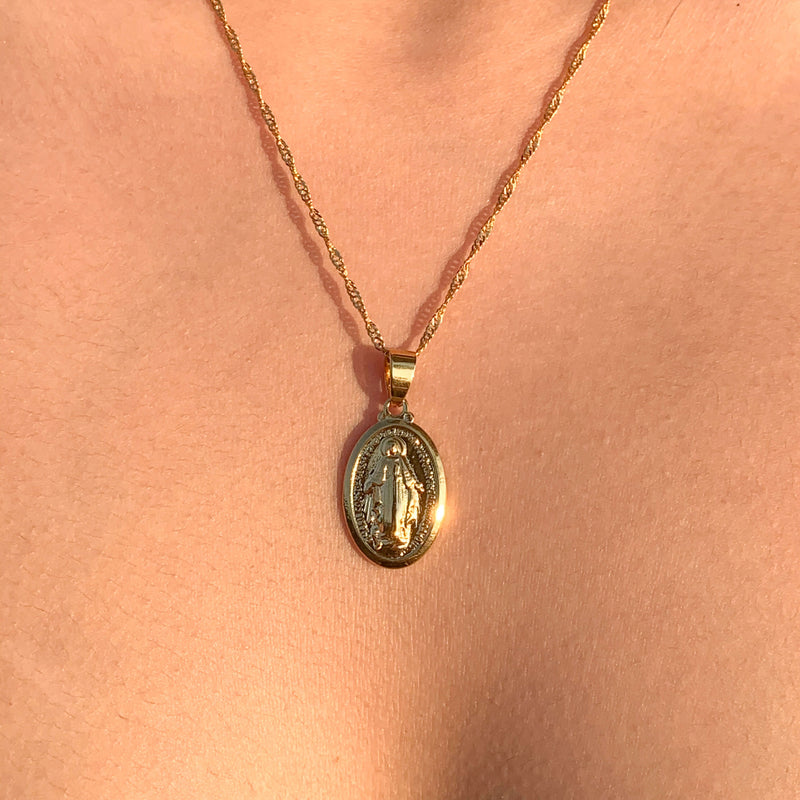 Oval Coin Necklace
