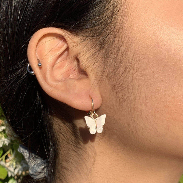 Butterfly Drop Earring