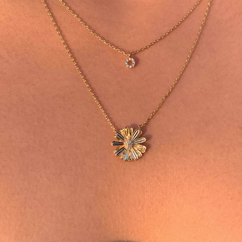 Daisy Layered Necklace