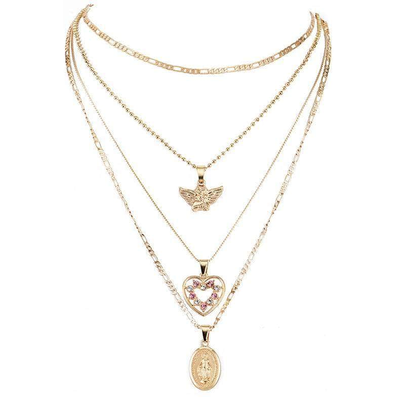 Angel Heart Virgin Mary Necklace