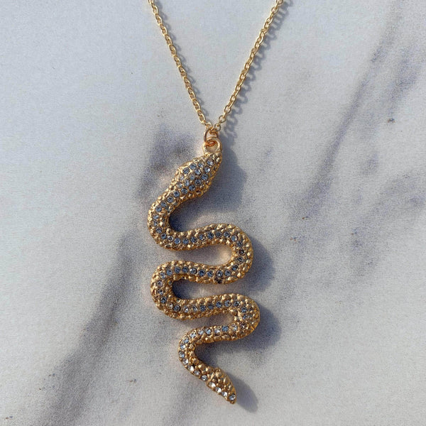 Golden Snake Necklace
