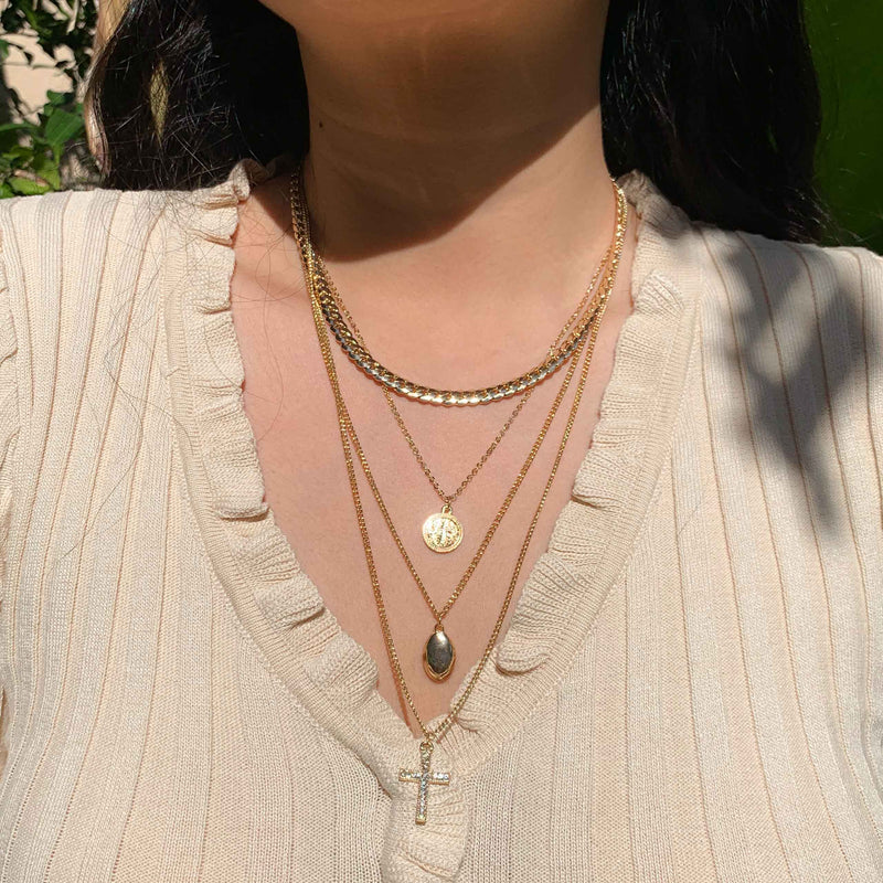 Perfect Cross Layered Necklace
