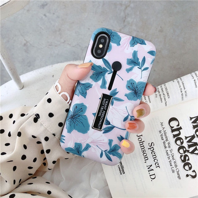 Floral Loop Ring Phone Case