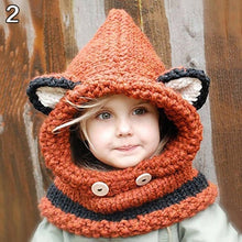 Load image into Gallery viewer, Cute Fox Ears Warm Hat