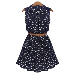 Cat Footprints Thin Dress