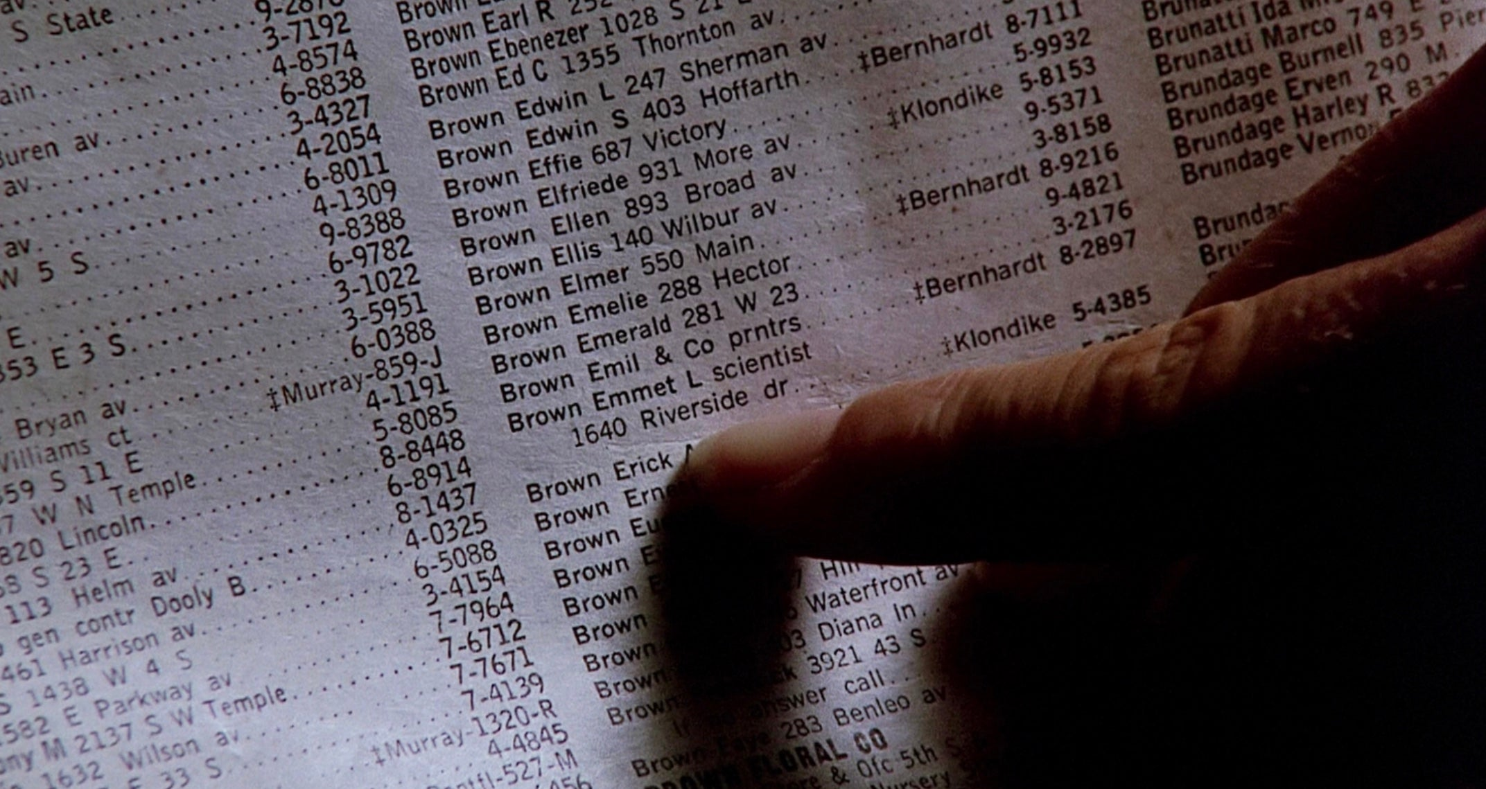 Back to the Future (1985) - A torn Phone Book page with Dr. Brown's Contact Details (SOLD)