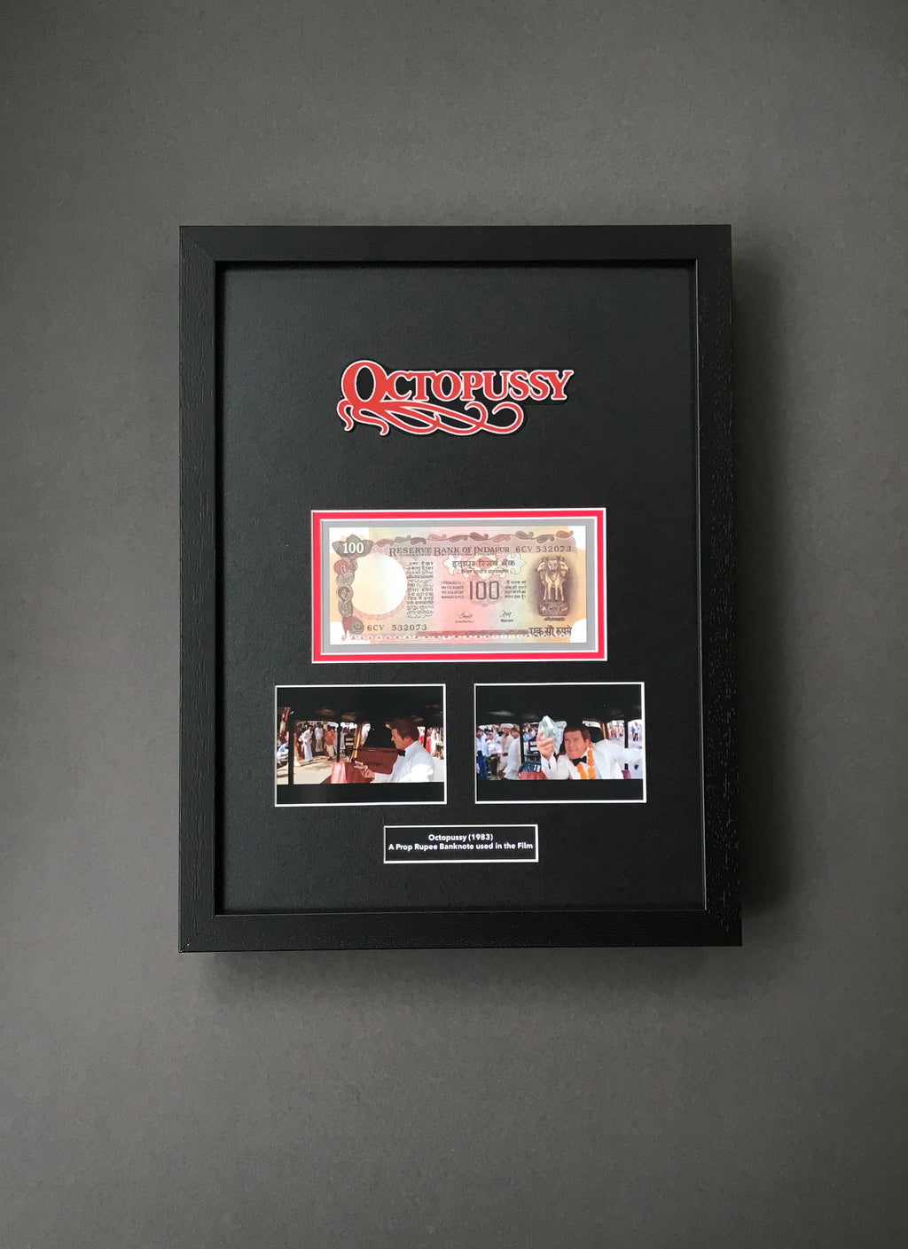 Octopussy (1983) - A Framed Prop Rupee Banknote