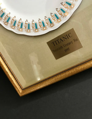 Titanic (1997) - A Framed First Class Dining Plate