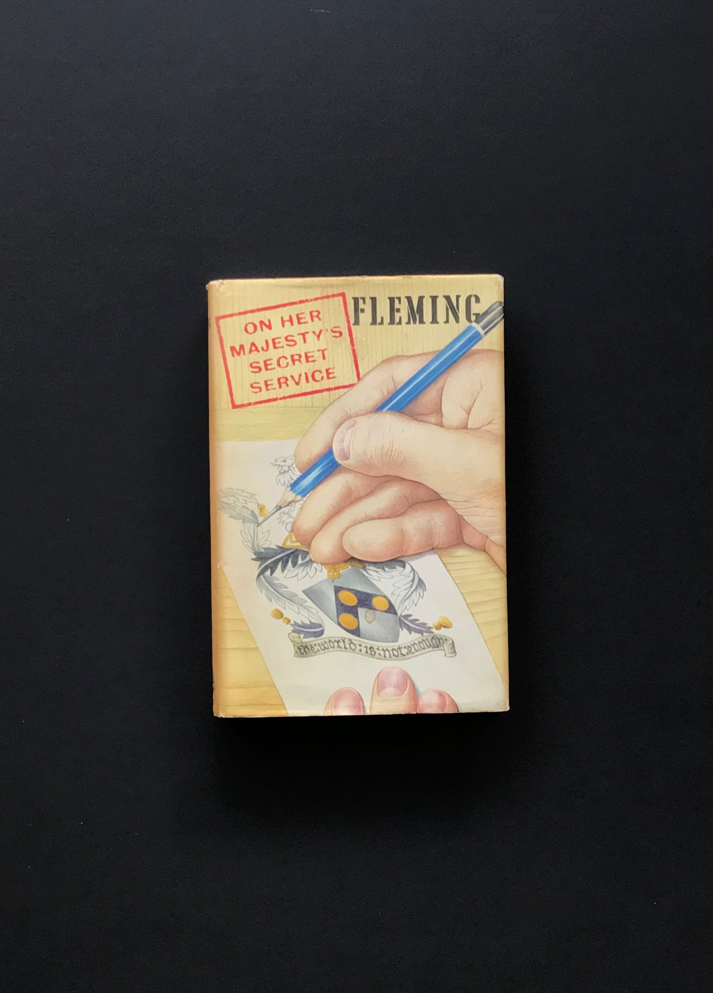 On Her Majesty's Secret Service (1969) - A First Edition Book by Ian Fleming, Signed & inscribed by George Lazenby SOLD