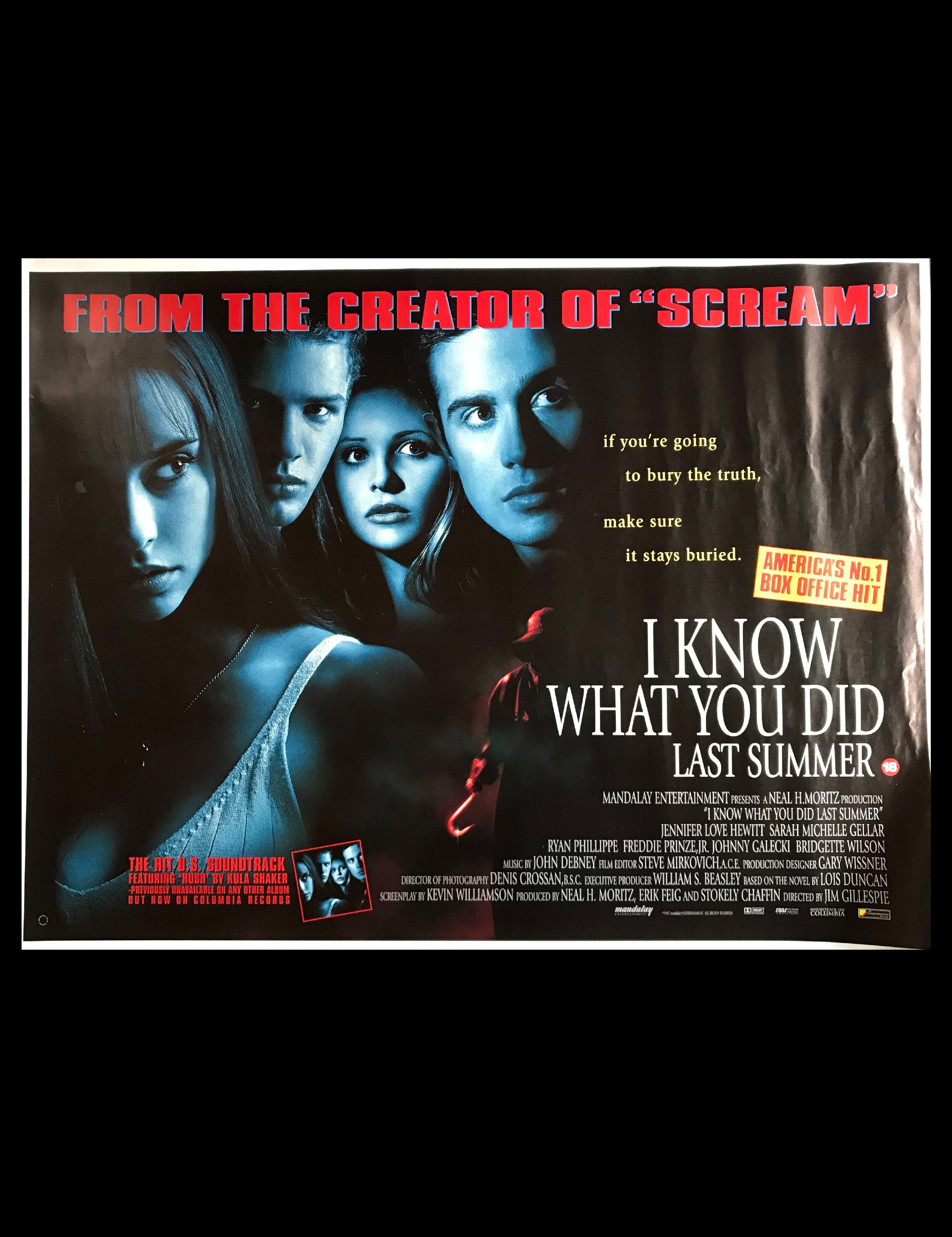 I Know What You Did Last Summer (1997) - A British Quad Cinema Poster