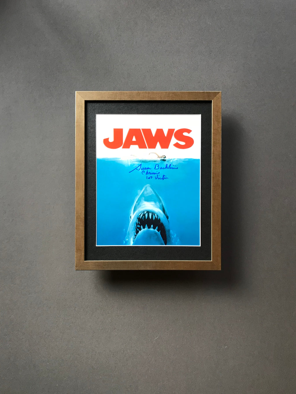 Jaws (1975) - Susan Backlinie as 'Chrissie' - A Framed Autographed Still
