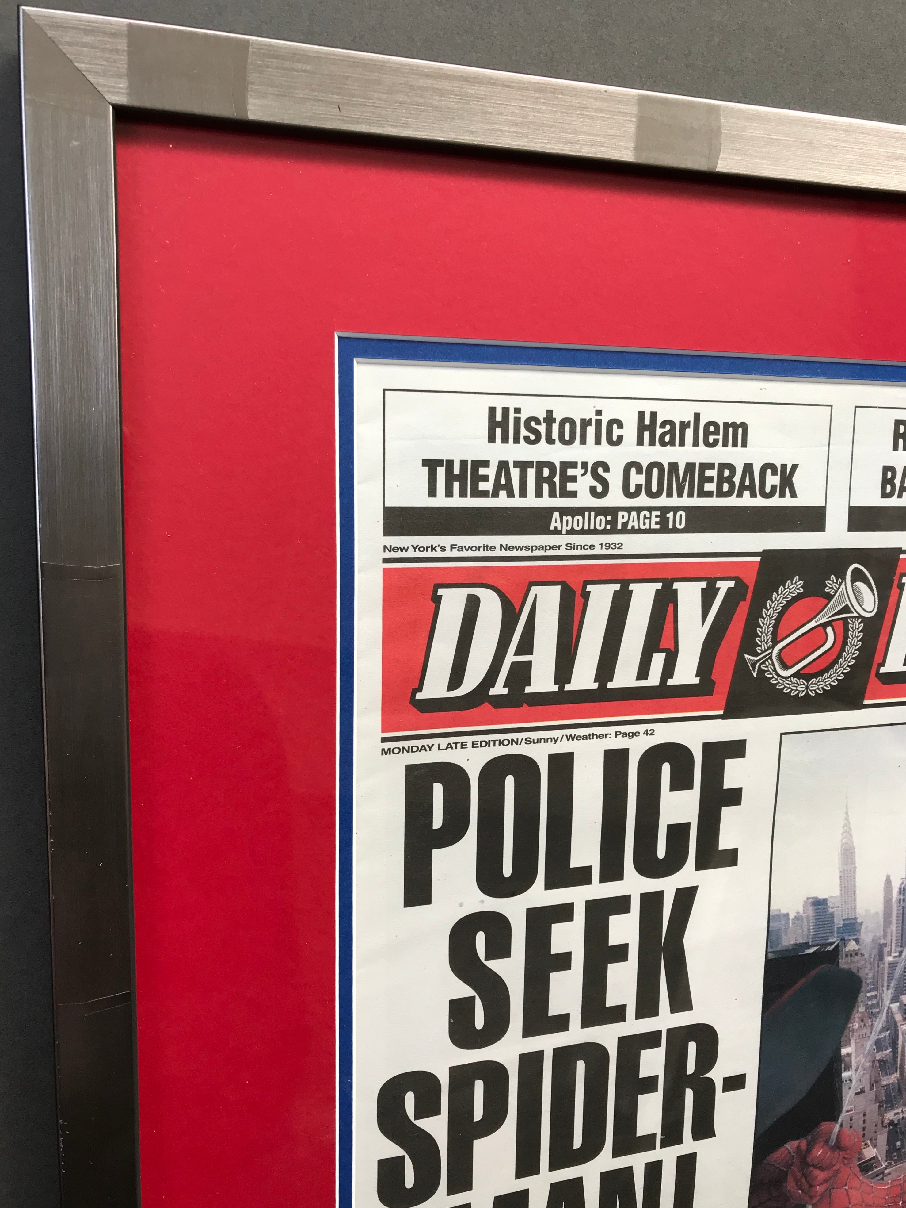 Spider-Man (2002) - Framed Prop 'Daily Bugle' Newspaper (SOLD)