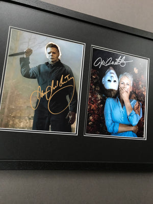 Halloween (2018) - A Double Autographed Framed Display (SOLD)