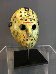 Friday 13th Part VIII: Jason Takes Manhattan (1989) - A Replica Hockey Mask Autographed by Kane Hodder (SOLD)