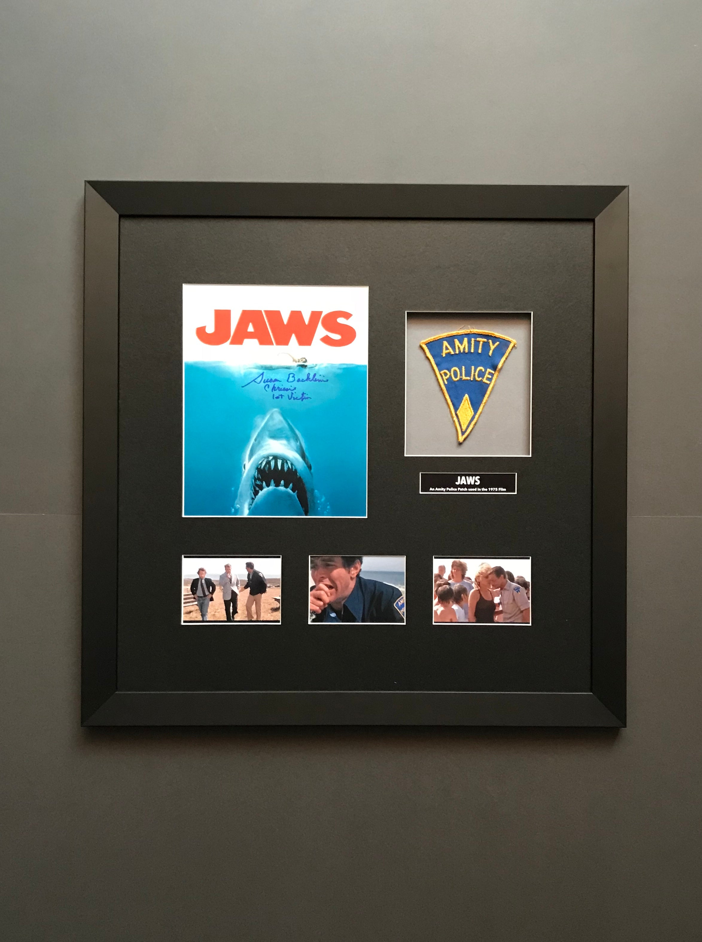 Jaws (1975) - A Framed 'Amity Police' Uniform Patch (SOLD)