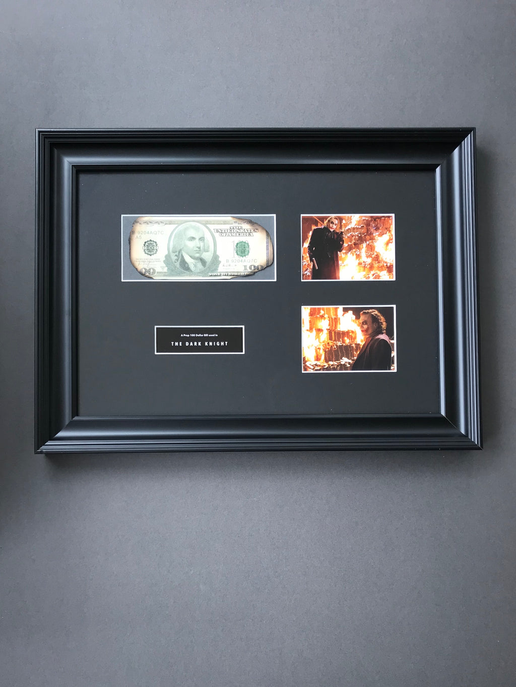 The Dark Knight (2008) - A Prop Burnt 100 Dollar Bill (SOLD)
