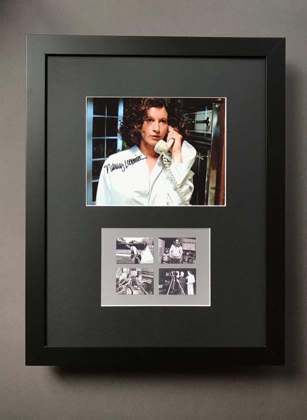 Halloween (1978) - Nancy Loomis as Annie Brackett - A Framed Autographed Still & Behind the Scenes Thumbnails