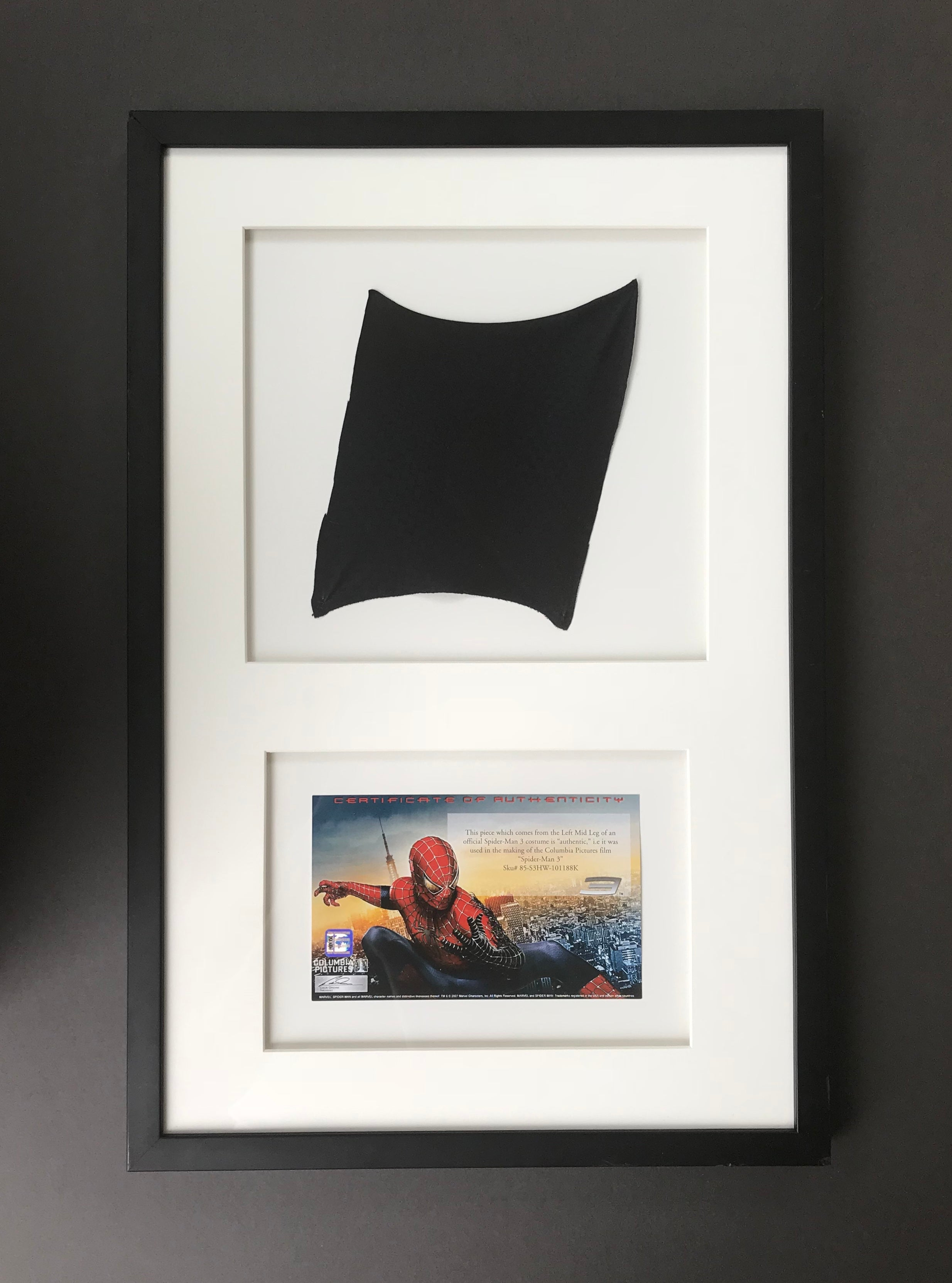 Spider-Man 3 (2007) - A Piece of the Original Spider-Man Costume (SOLD)