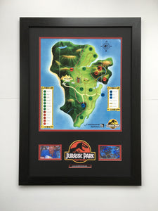Jurassic Park (1993) - Prop Visitor Map (SOLD)