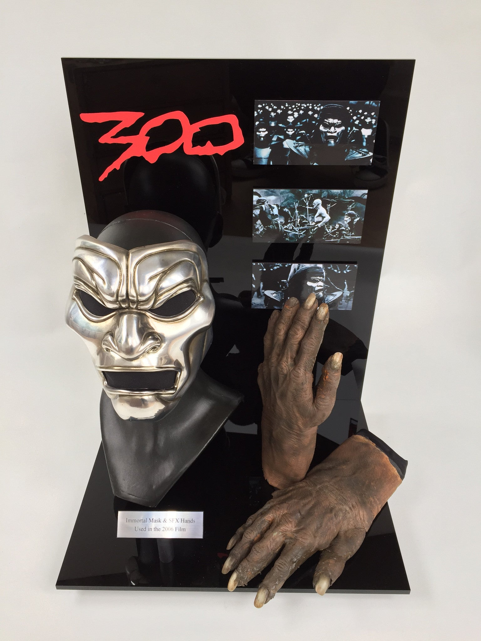 300 (2006) Immortal Mask & SFX Gloves - SOLD