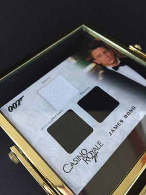 Casino Royale (2006) - Framed Daniel Craig Authentic Costume Swatches (SOLD)