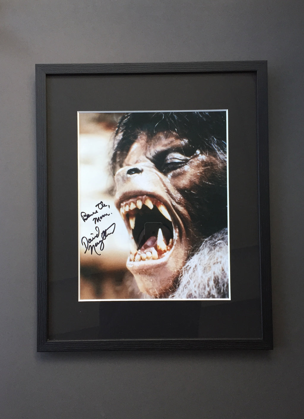 An American Werewolf in London (1981) - David Naughton original Framed signed & Inscribed Still (SOLD)